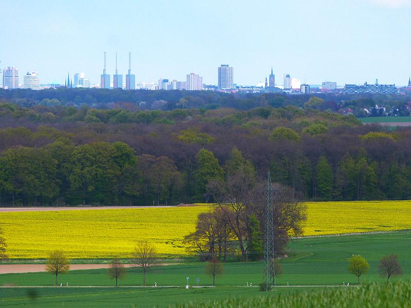 Blick von der Siedlung Höhenluft Richtung Hannover