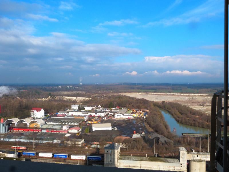 Aussicht vom Zementwerk in Misburg