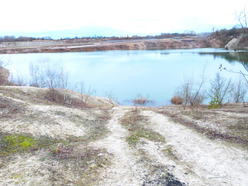 Blick in die alte Grube HPC 1 in Misburg
