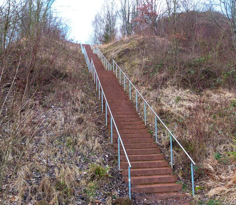 Zechenpark: 120 Stufen zum Aussichtspunkt