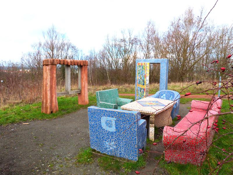 Kunst auf dem Berg im Zechenpark