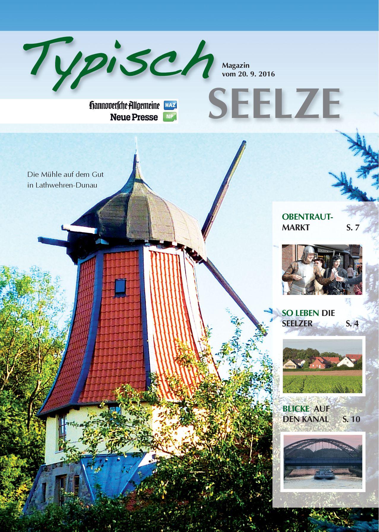 Titelseite von Typisch Seelze: die Gutsmühle in Dunau-Lathwehren