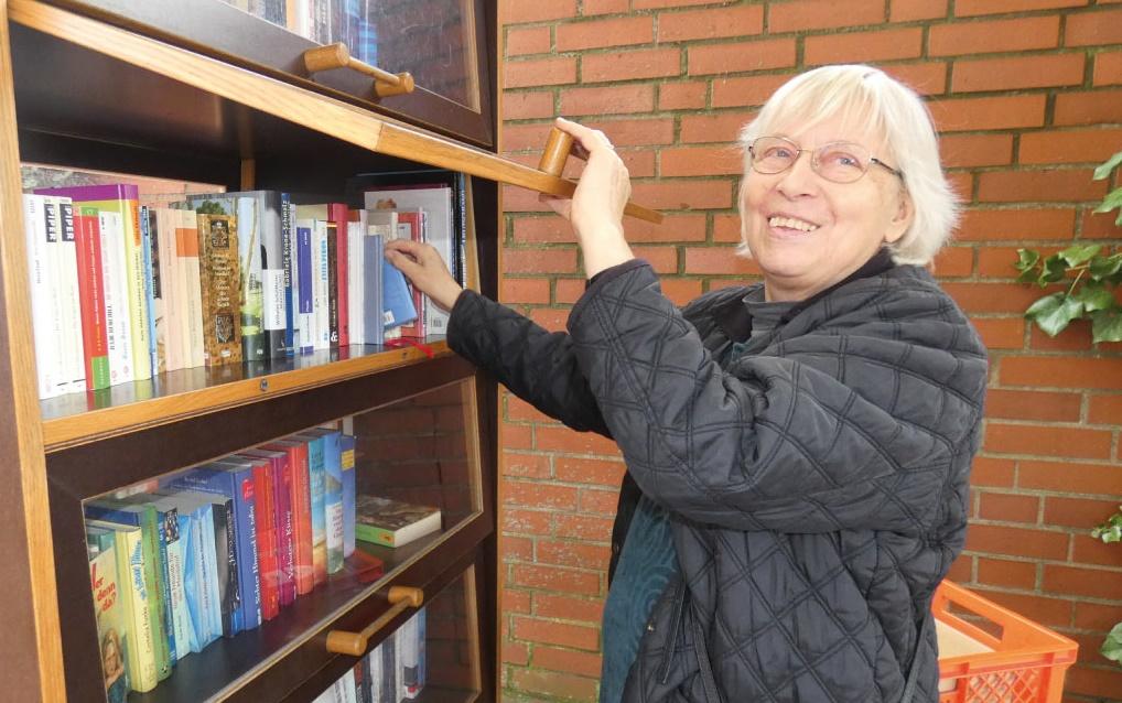 Bücherschrank des Vereins Leselust Garbsen