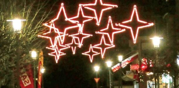 Marktstraße zur Weihnachtszeit